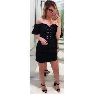 I.AM.GIA Alya Off-The-Shoulder Black Corset Dress